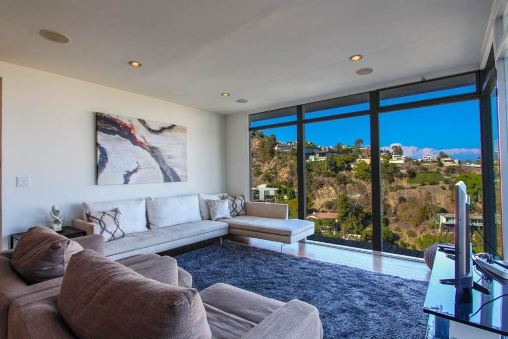 Living room and views