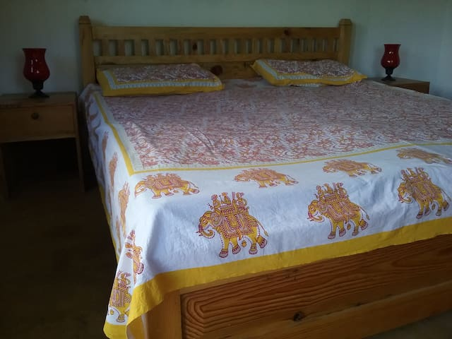 Clean and comfortable bed