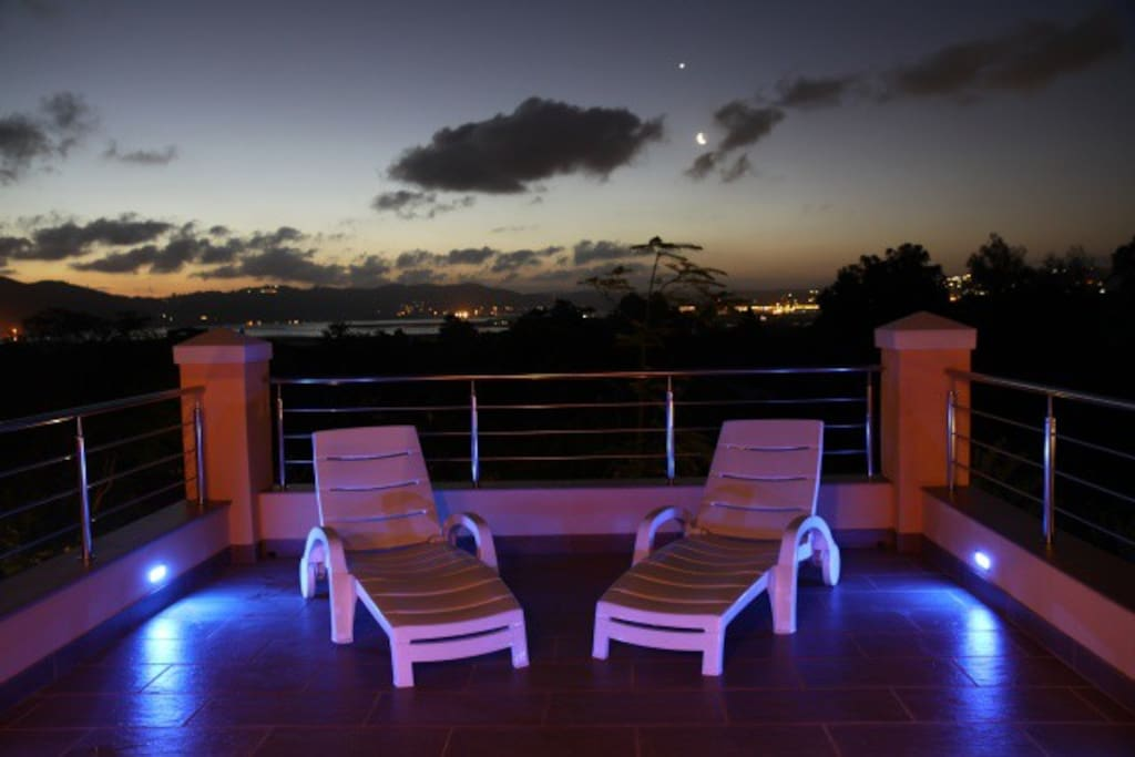 Littlewood Manor Africa Suite Terrace at night