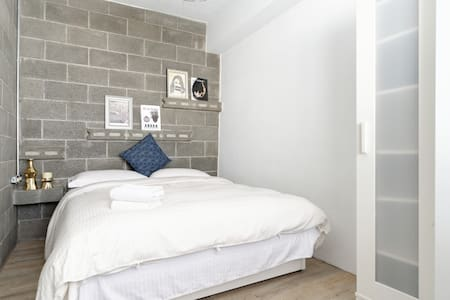 Sunny studio suite by Metro station