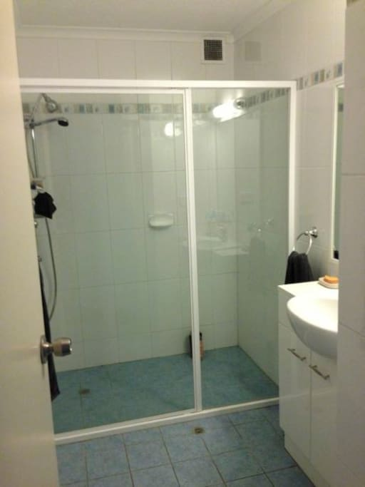 Bathroom and 2 person shower