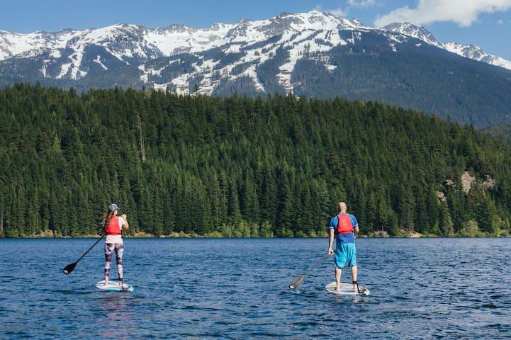 Paddle boarding on Alta lake