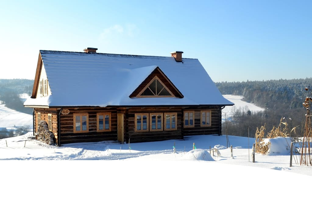 Traditional wooden house nowica houses for rent in u cie gorlickie malopolskie poland - Traditional polish houses wood mastership ...