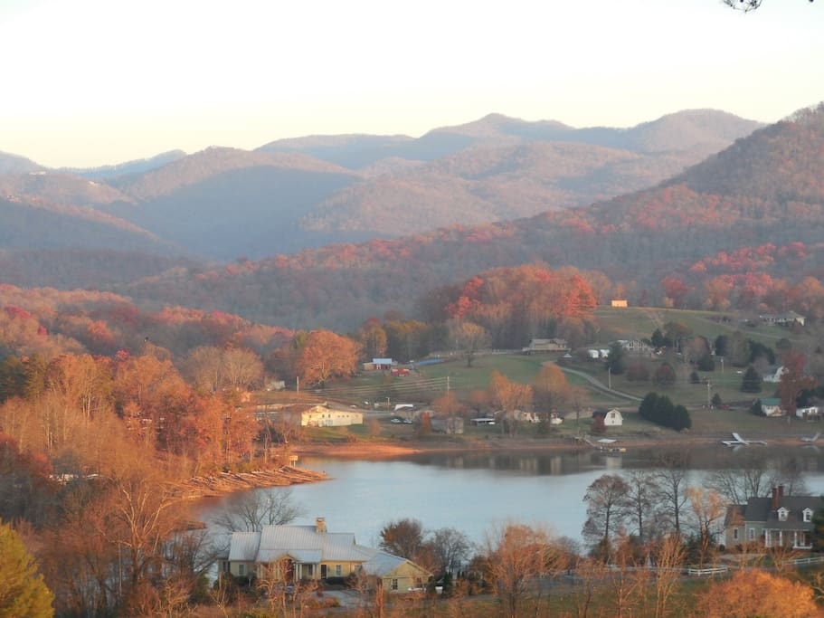 View of Lake Chatuge in the Fall