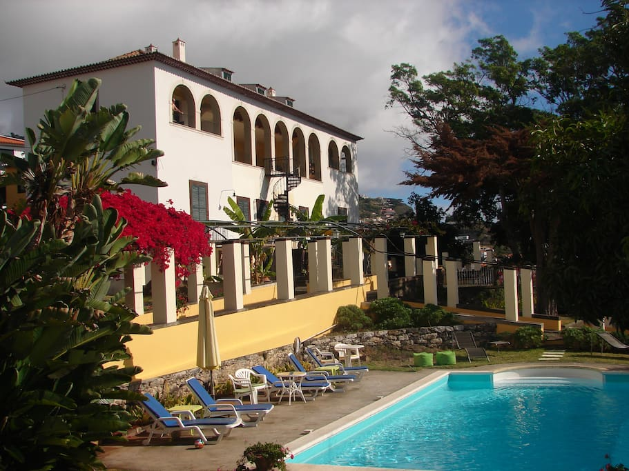 The beautiful building of Quinta Esperança...