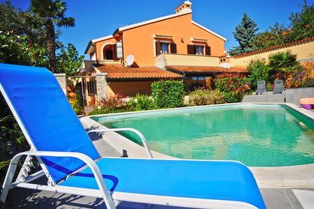 Great villa Nicole with pool, gym, billiard,... - Muntić - House