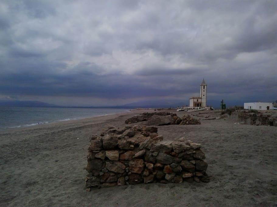 Iglesia de las salinas, Almadraba de monteleba.