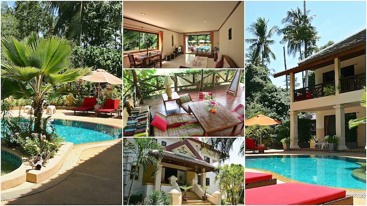 Cozy & tranquil mansion at the Lamai beach