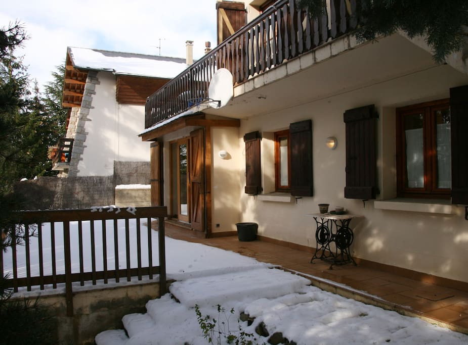 Terrace and garden with snow :)