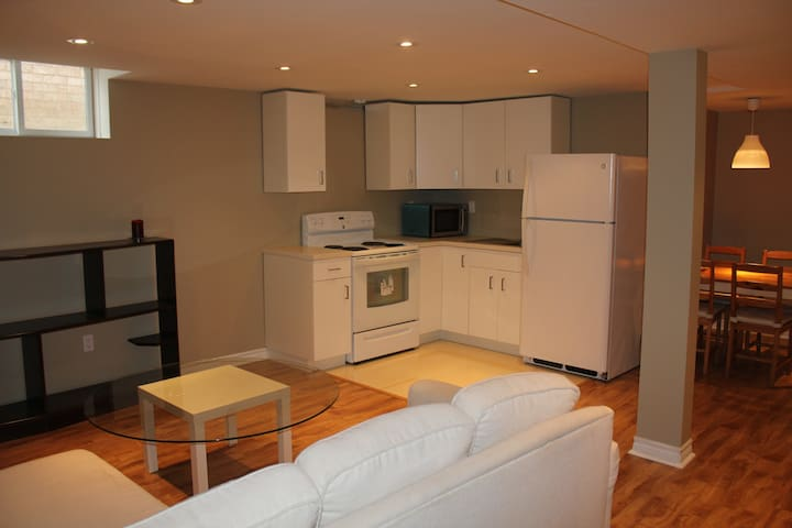 a brand new basement apartment with