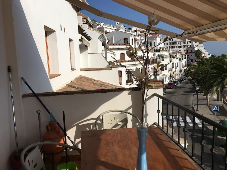 View of Frigiliana old town from the lower terrace