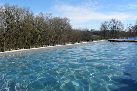 Stone gîte: heated pool & jacuzzi 2-4 people: 60m2 - Ligneyrac - Natur-Lodge