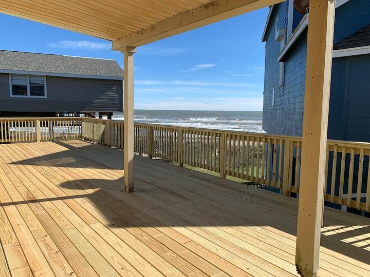 Beach front Galveston Home