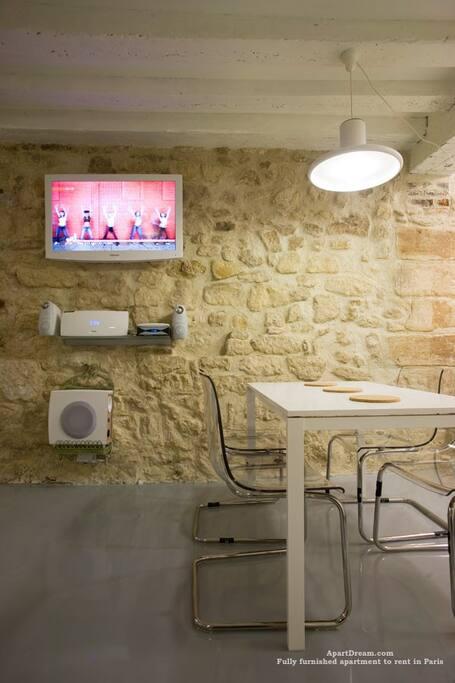 Kitchen with Dishwasher, Washing and Dry machine
