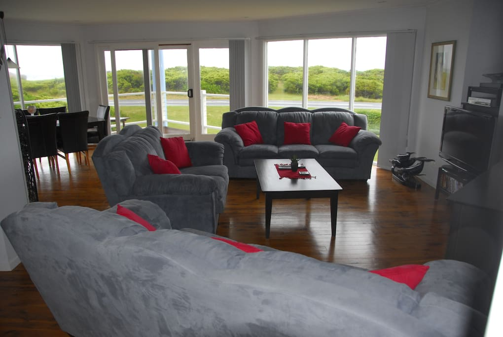 Large Living Area with Sea View.