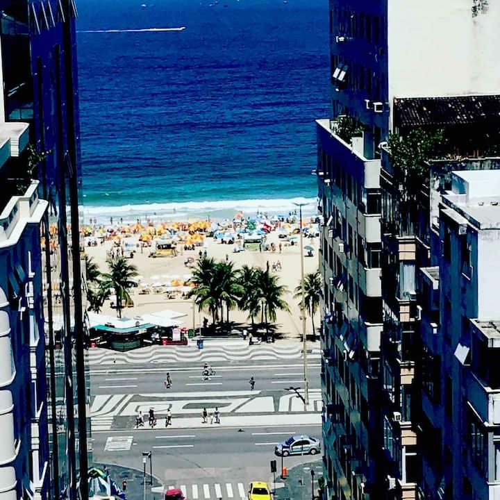 Copacabana apartamento com vista para o Mar