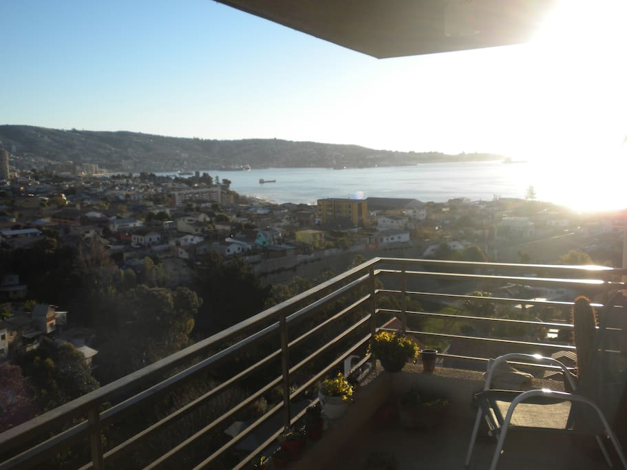 View to Valparaíso from main terrace