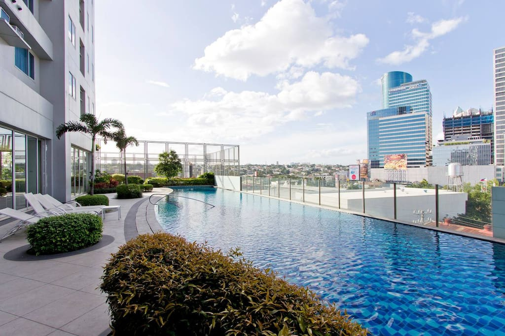 Luxurious Lap Pool w/ view of the city