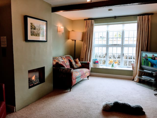 Sitting Room with log effect gas fire