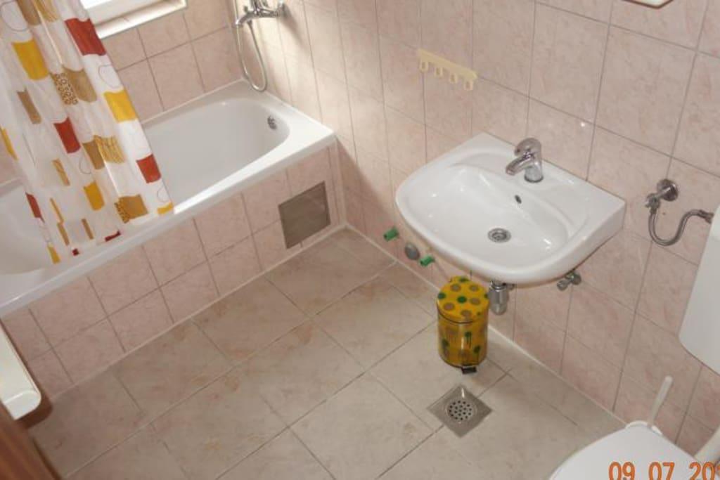Bathroom (4m2) with lying bath