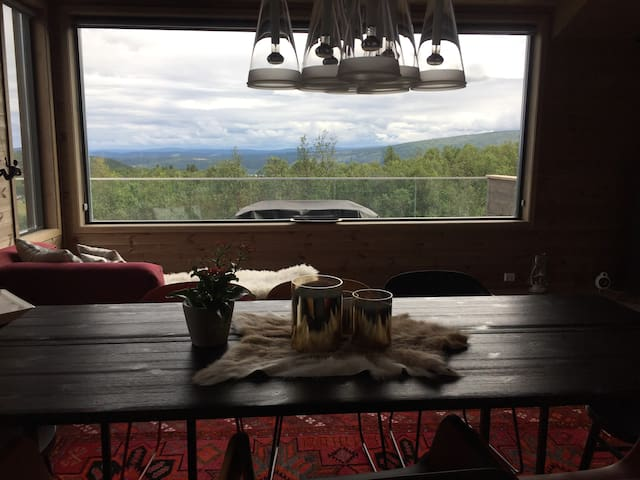 Summer view from the dining area