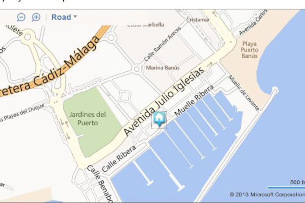 Apartment on the map.Puerto Banus port, 2nd line.