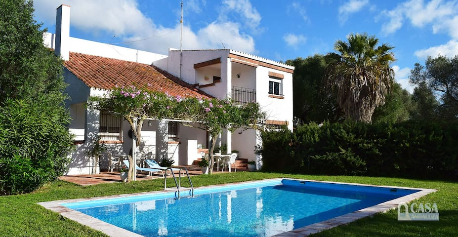Spacious holiday villa with pool in Zahora for 8