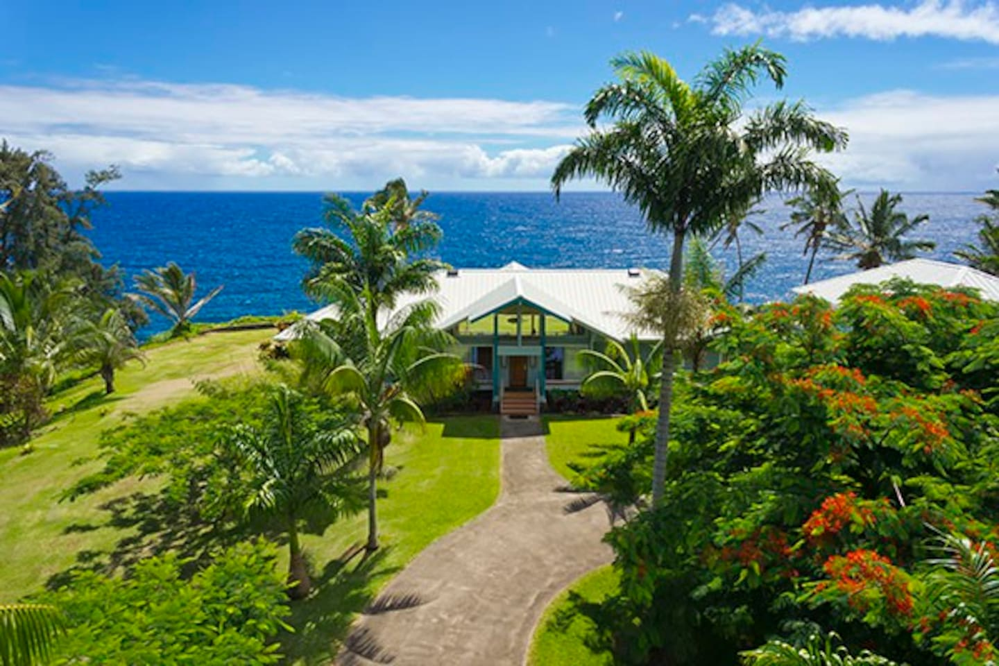 Absolutely ocean front and absolutely amazing!  The Pali Lani Seacliff Lodge.