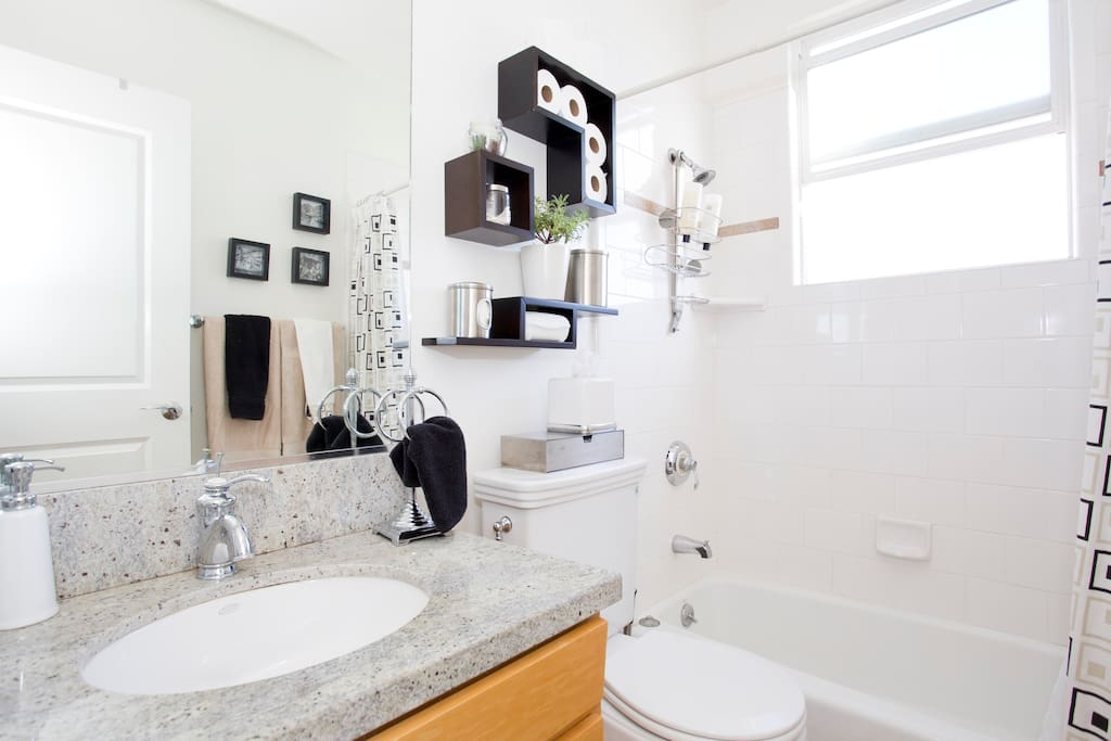 Another view of your bathroom, clean and neat.