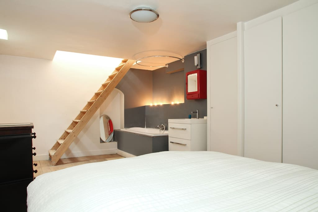 Loft atypique montmartre appartements louer paris for Achat appartement atypique ile de france