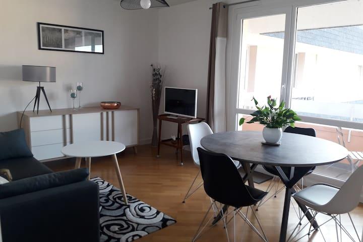 Appartement 47 m2 avec belle vue mer