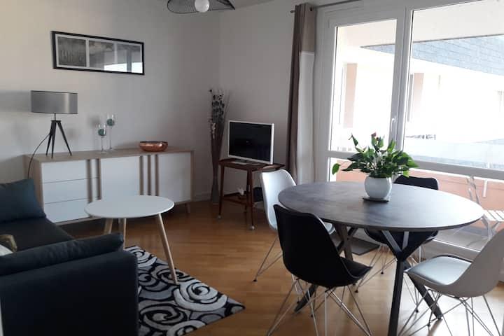 Appartement 47 m2 au calme avec belle vue mer