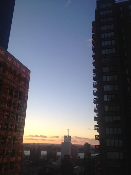 View from the window - west and Hudson River