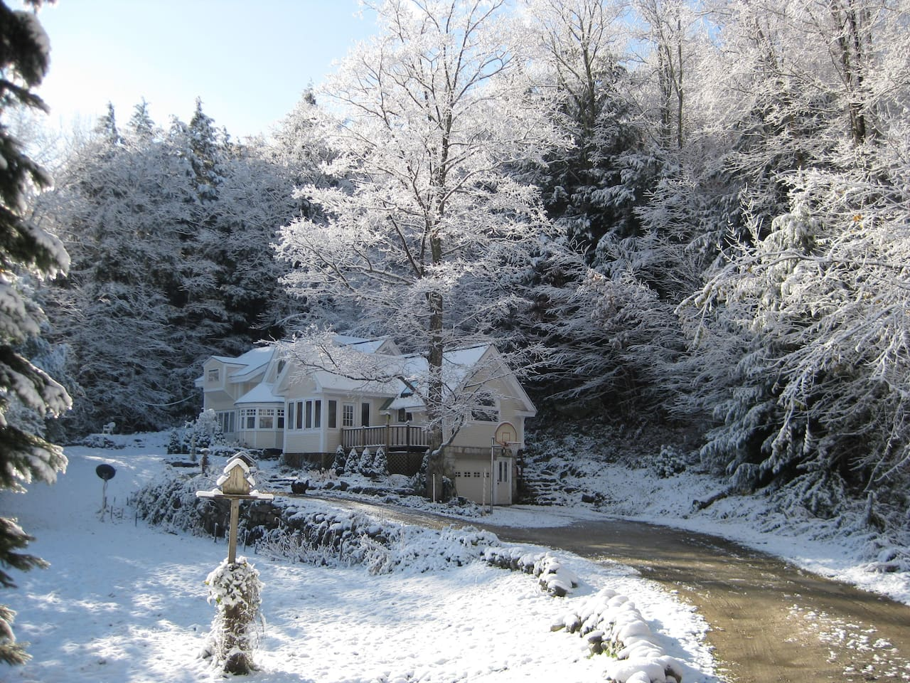A frosty winter day at our Mountain Valley Retreat