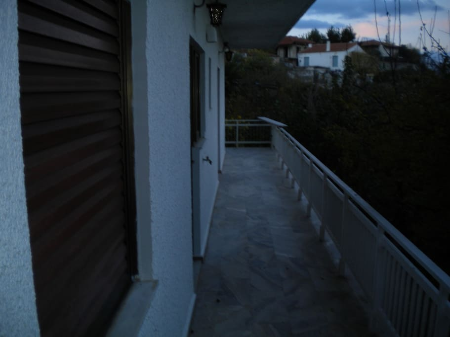 Very big balcony with a great view!