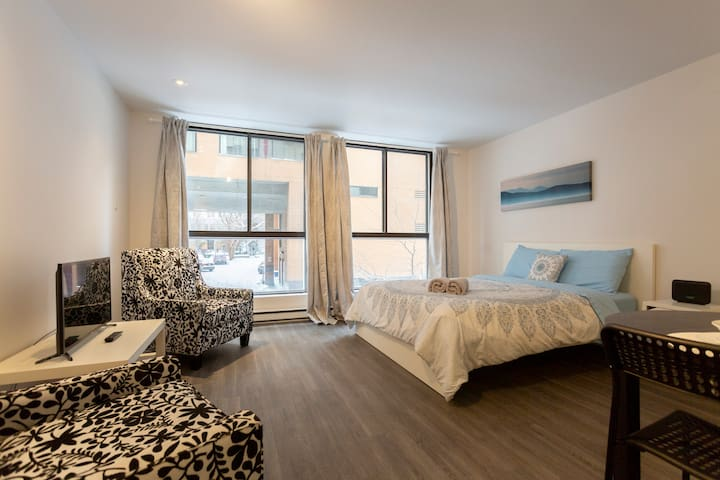 Clean Studio In The Heart of Downtown Montreal