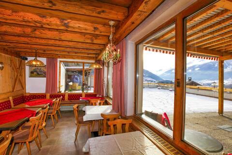 Panoramatický rekreačný dom so saunou v Stubaitale