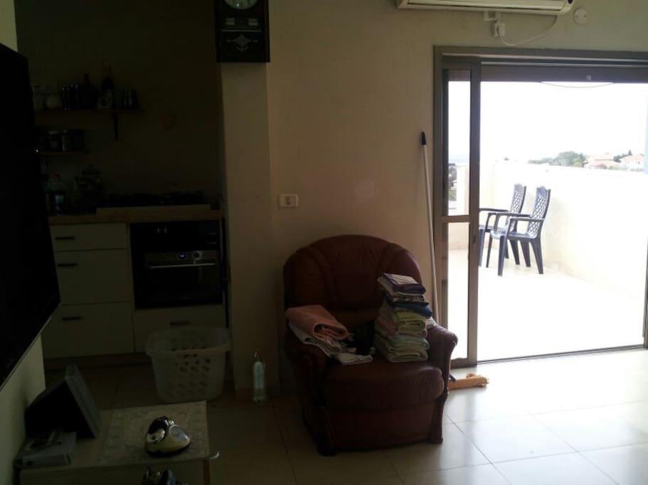 Balcony + Living room