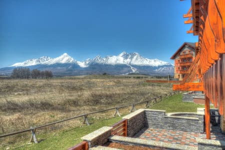 Cozy apartment with beautiful view - Veľká Lomnica - 公寓