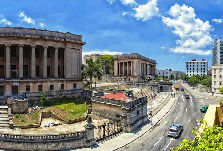 Vista a la Universidad de la Habana