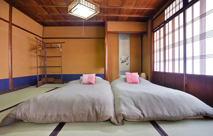 Room 1 (each room can comfortably sleep two people on Japanese futons)