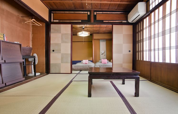 Room 2 Can be used as a living space or additional futon space, depending on the size of your group  (Room 1 and 2 are connected, sliding doors close for extra privacy)
