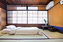 Room 3  can comfortably fit two Japanese futons