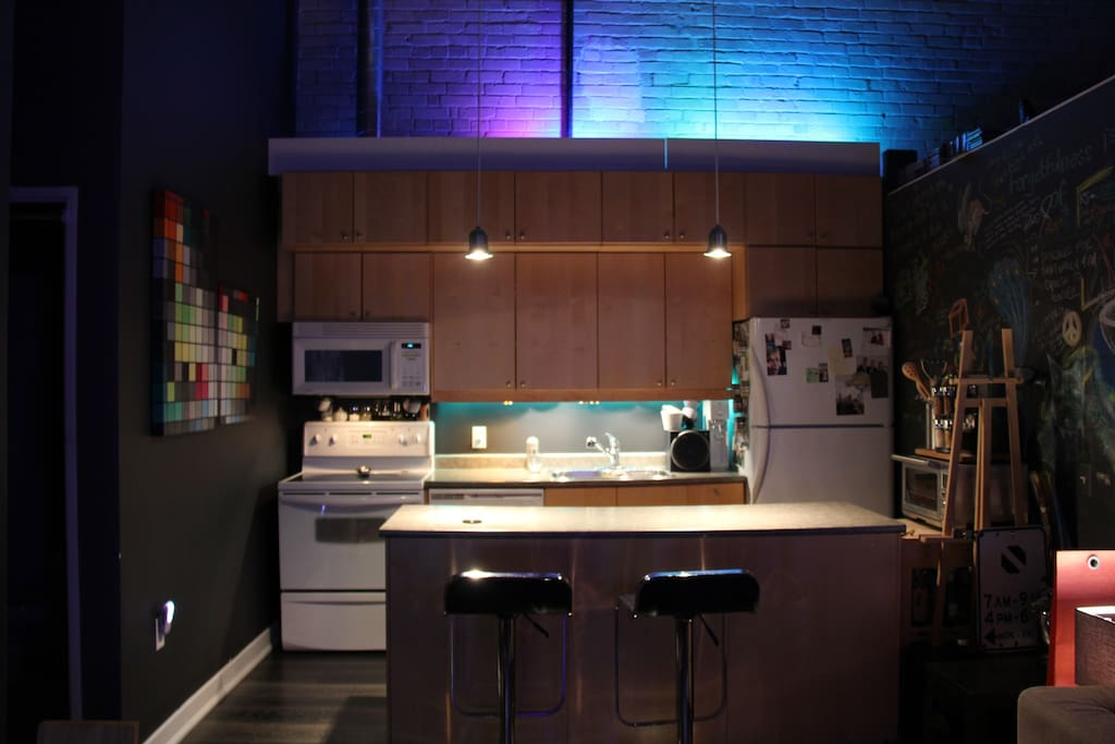 Kitchen at Night - Blue Lighting Theme