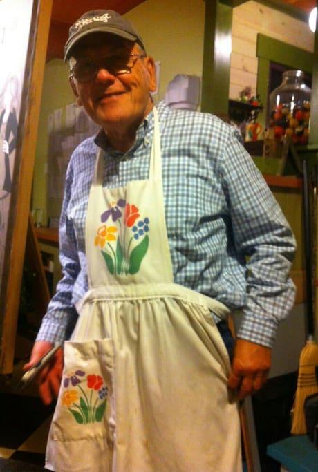 Despite his Fashion Sense.... Walter Makes Delicious Full Country Breakfasts!