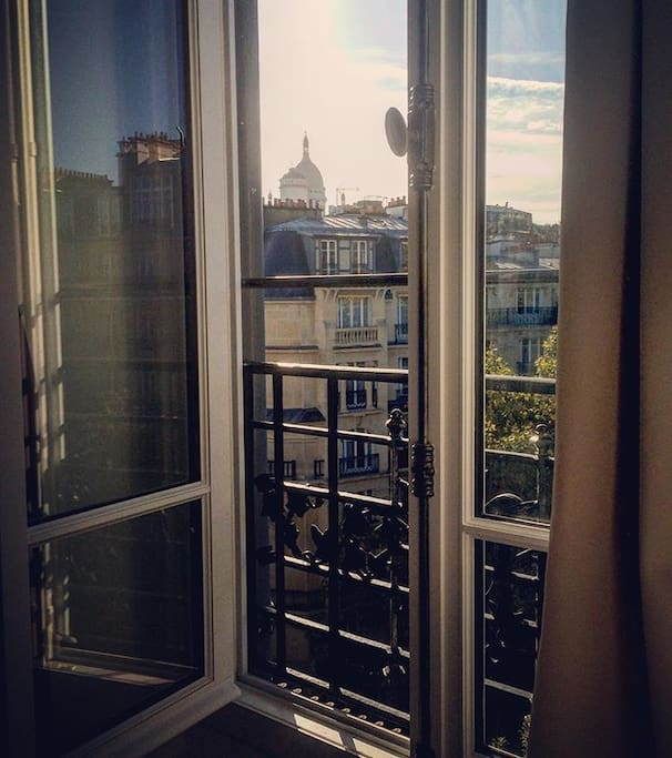 Bedroom View (Window #1 - Sacré Coeur)