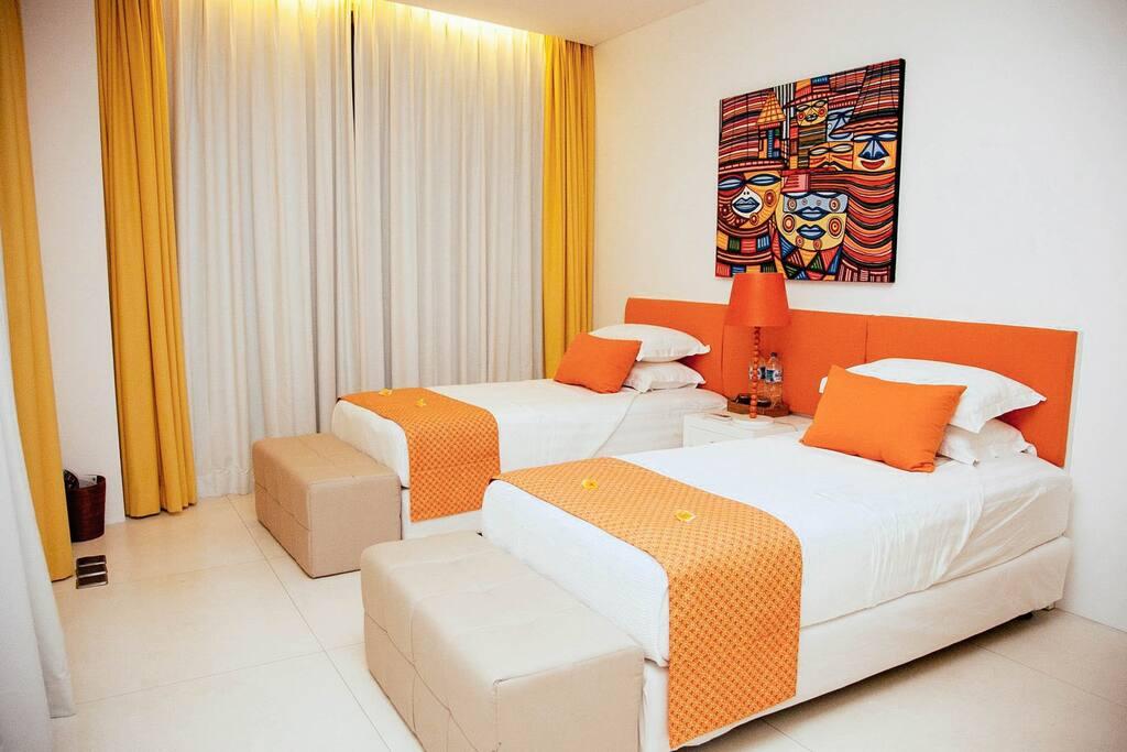 Room #2 - 2 Single Beds