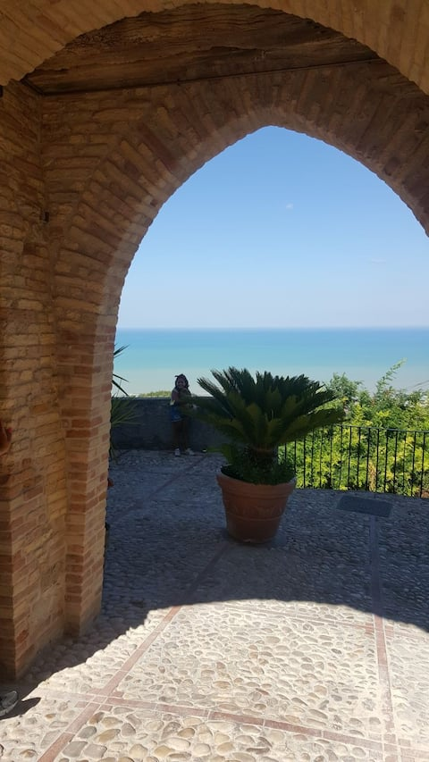 Apartment montepagano with spectacular views.