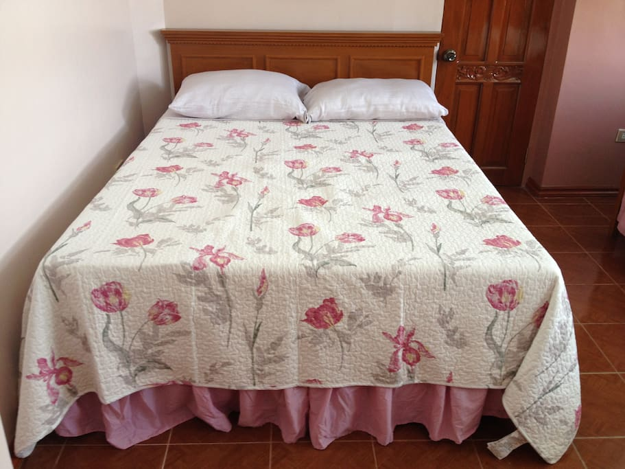Imported bed covers and bed linens.