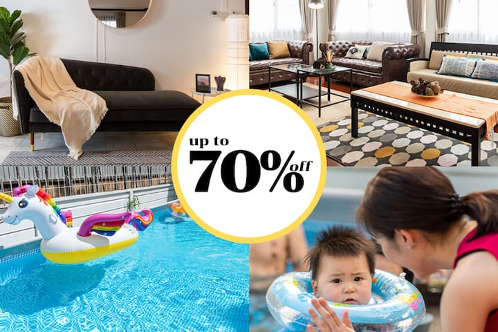 PoolVilla Up to 70%off, Netflix, Wifi, Kitchen